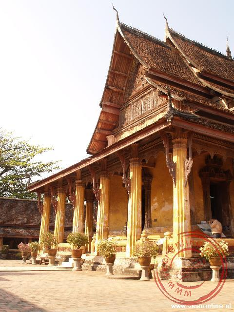 De Wat Si Saket in het centrum van Vientiane