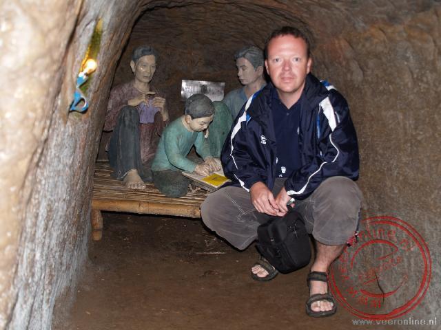Het uitgebreide tunnelstelsel van Vinh Moc op de grens tussen Noord- en Zuid Vietnam. Zes jaar leefden mense hier onder de grond