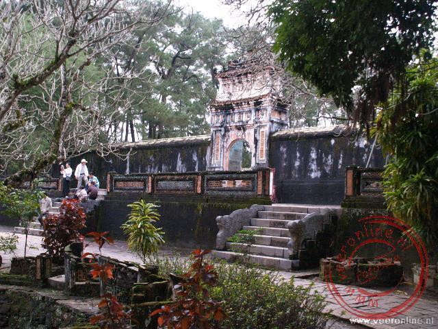 Het enorme buitenverblijf van keizer Tu Duc in de nabijheid van Hué