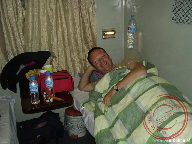 De slaapplaats in de trein