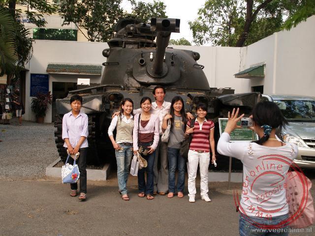 Het oorlogsmuseum geeft een beeld van de Vietnamoorlog