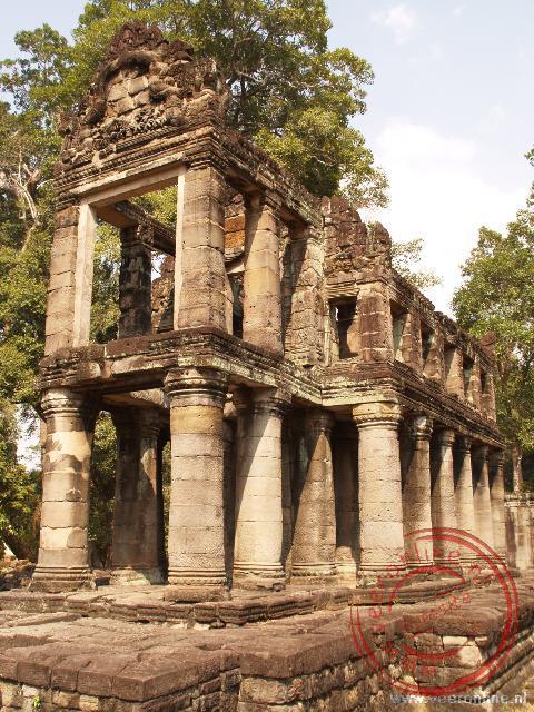 Het Preah Khan Klooster had vroeger twee verdiepingen