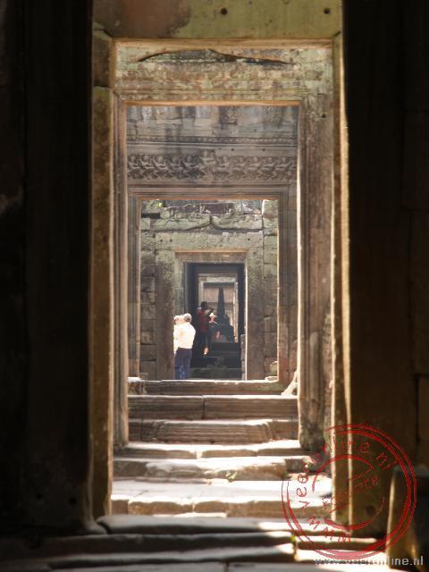 De doorkijk in het Preah Khan Klooster