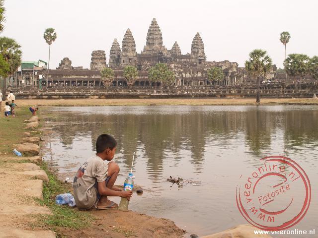 Het uitzicht op de Angkor Wat