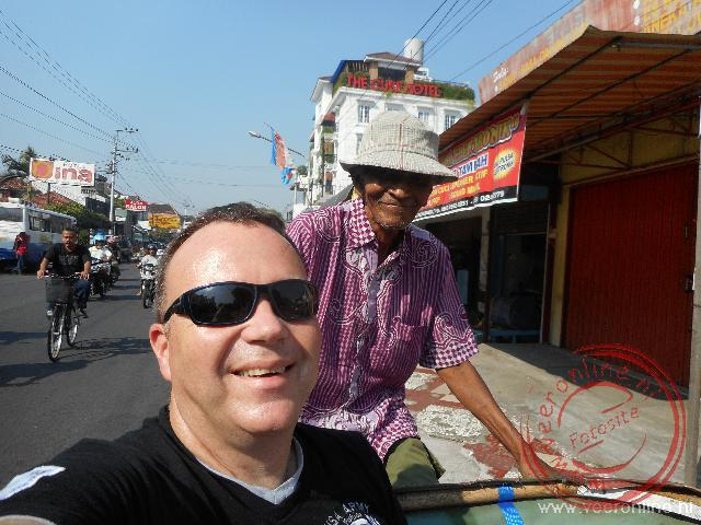 Met de fietstaxi door Yogya
