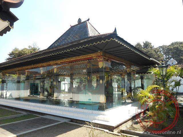 De ontvangstzaal in het Kraton