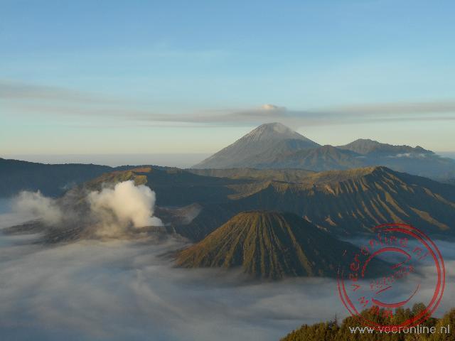Een surrealistisch plaatje van de Bromo vulkaan