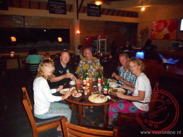 Eten in het centrum van Lovina