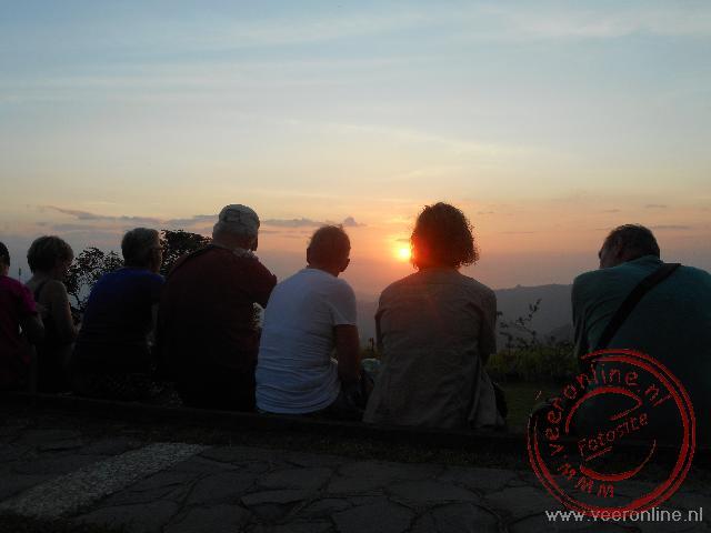 De laatste zonnestralen in Munduk