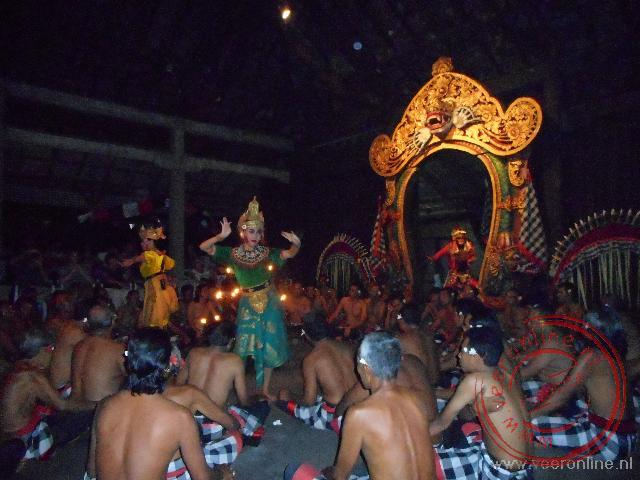 De traditionele Kecak dans