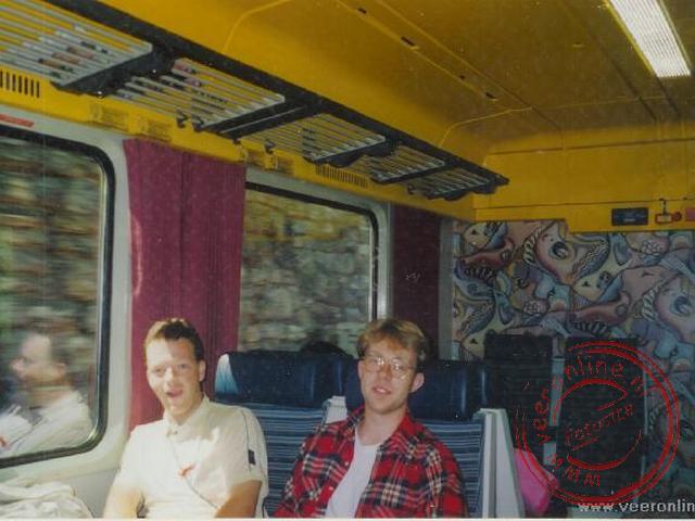 In een fraaie Oostenrijkse trein