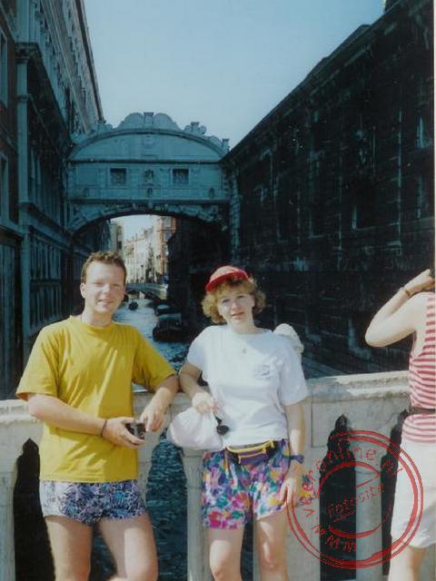 De brug der Zuchten in Venetië