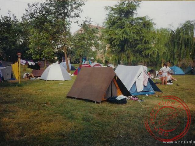 Op de camping op het eiland Lido nabij Venetië