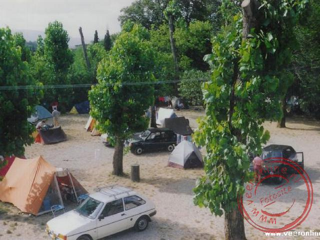 Interrail Europa 1991 - De grint-camping in Florence