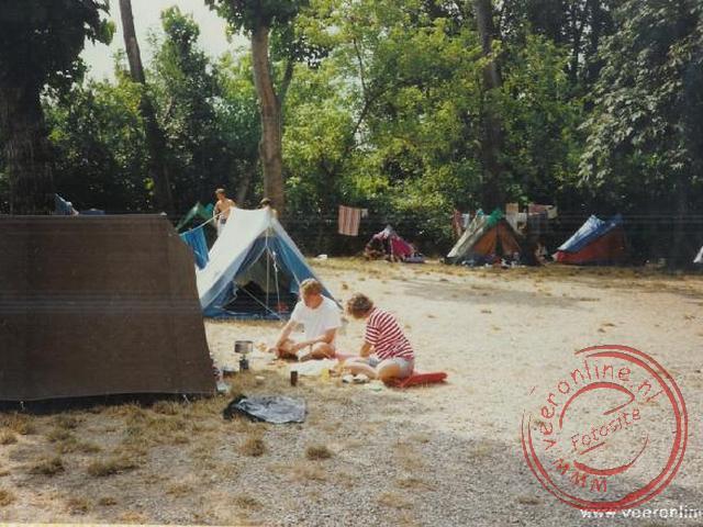 Eten voor de tent