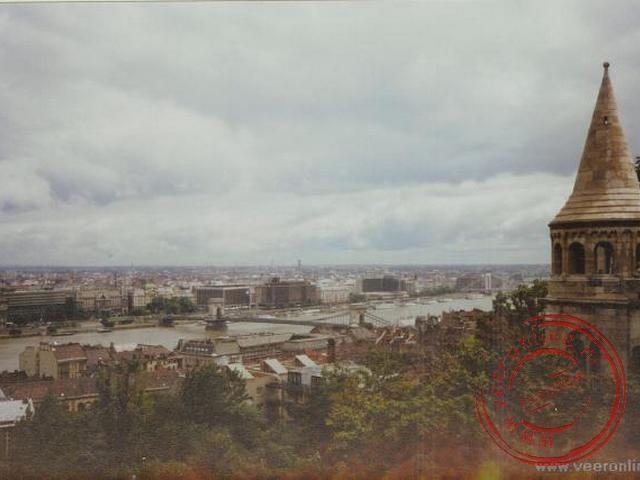 Uitzicht vanaf het Visser Bastion in Budapest