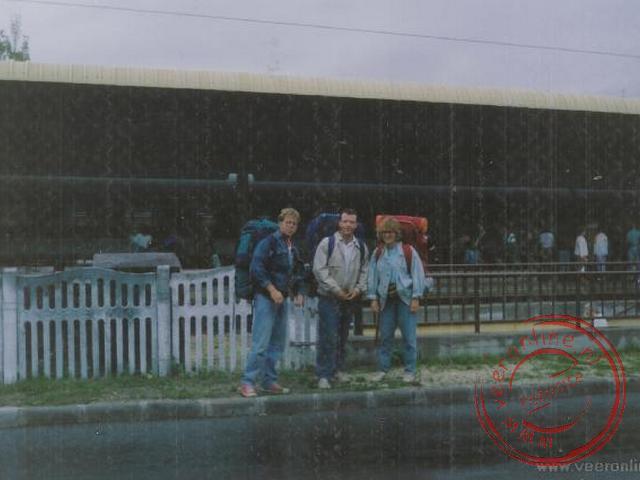 Gepakt op het station van Siofok