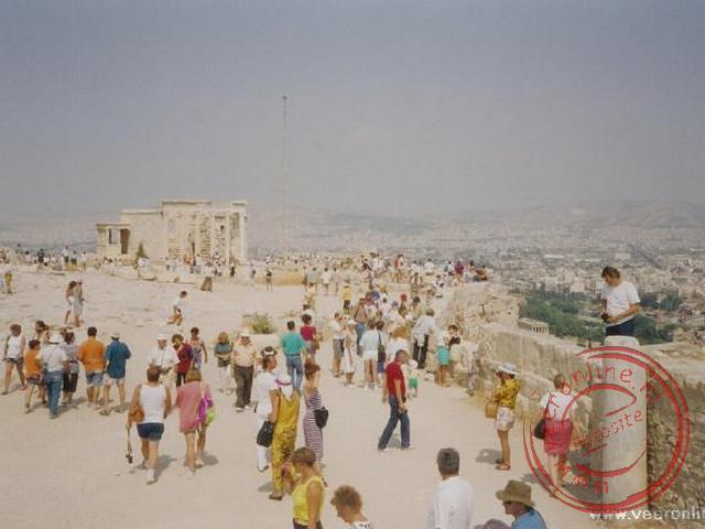 De drukte op de Akropolis-berg