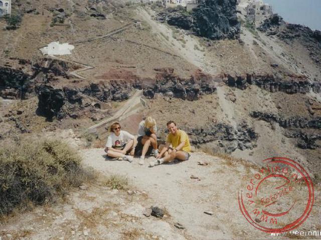 Het foto-bewijs dat we de rots echt beklommen hebben
