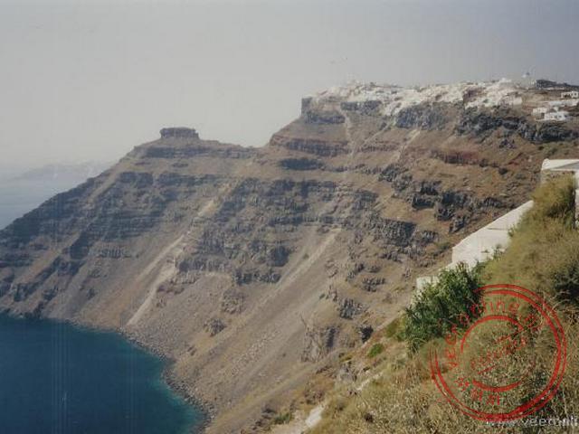 Het plaatsje Thira bovenop de vulkaankrater