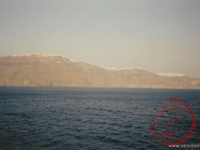 Het afscheid van het eiland vanaf de boot richting Ios