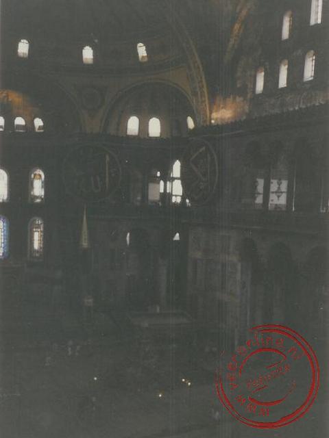 De Hagia Sophia moskee van binnen