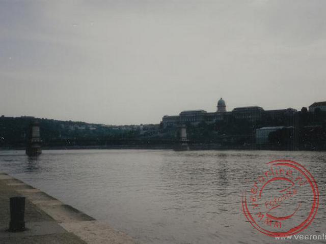 Het overzicht van Buda met het voormalige paleis