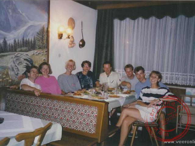 Het eten in een restaurant in Villach