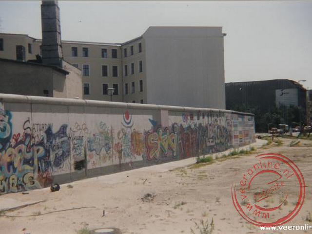 Restanten van de afscheiding tussen oost en west Berlijn