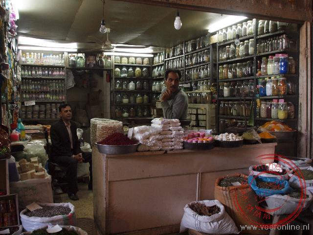 Een winkeltje in de bazaar van Esfahan