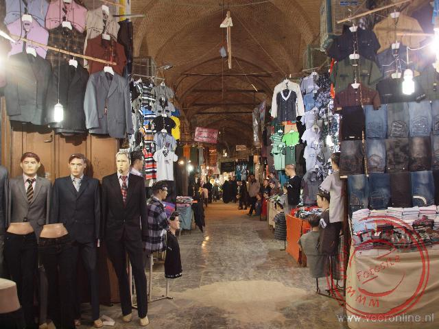 Luxe winkeltjes in de bazaar van Esfahan