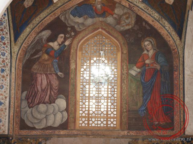Armeense fresco's in de church of Bethlehem