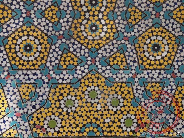 Prachtige mozaïek in Esfahan