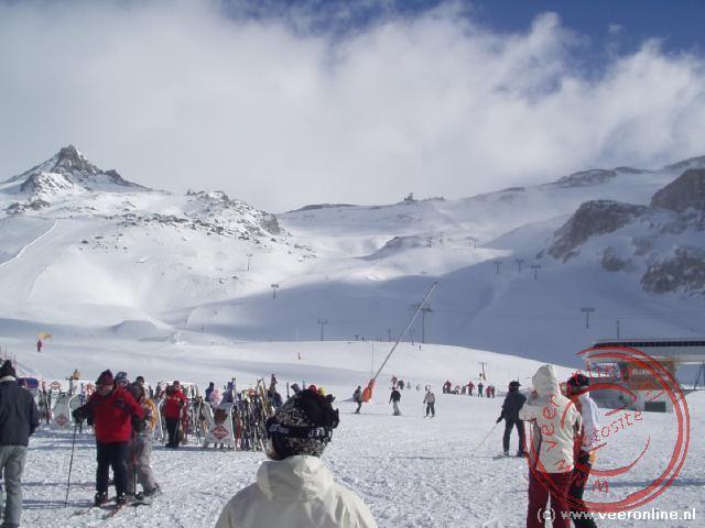 Uitzicht over de pistes in het Oostenrijkse gedeelte van het skigebied
