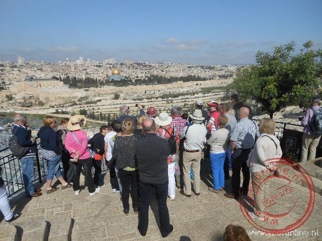 Uitkijkpunt vanaf de Olijfberg naar Oud Jeruzalem