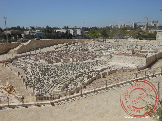 Een maquette in het Israël museum laat zien hoe de stad er rond de jaartelling uitgezien moet hebben
