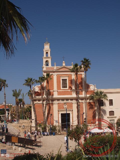 De Roman Catholic St Peter Church in de oude stad van Tel Aviv