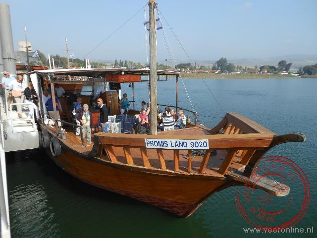 Een replica van een boot zoals deze gebruikt werd in de tijd van Jezus