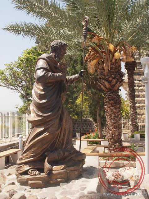 Hier sprak God tot Petrus: Gij zijt Petrus en op deze steenrots zal Ik mijn Kerk bouwen