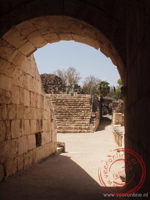 Een oude doorgang naar het theater in Beit Shean