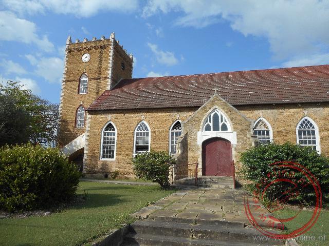 De in Engelse stijl gebouwde kerk van Black Water