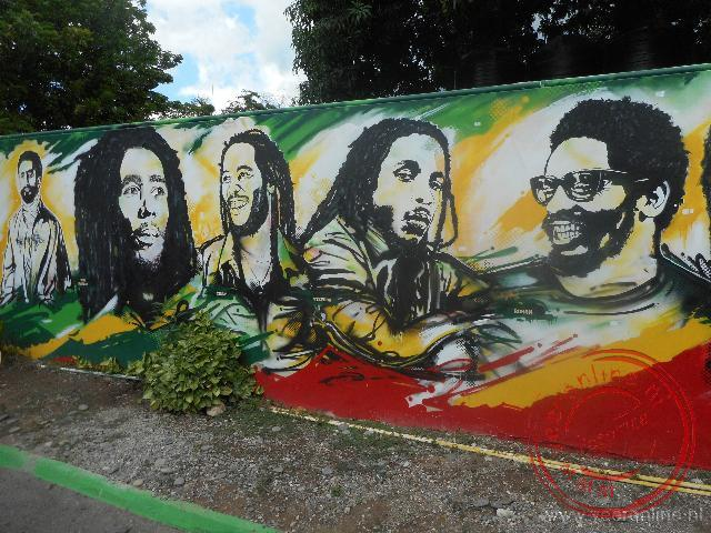 Het museum over Bob Marley in Kingston