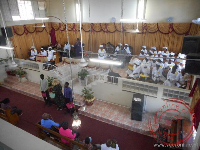 De gospel kerkdienst in Negril