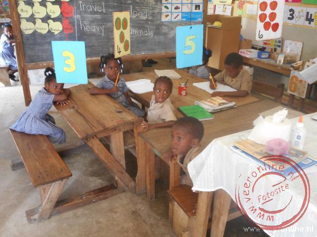 Een klein schooltje op het platteland