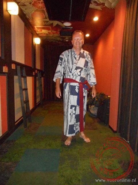 In een yukata naar het badhuis