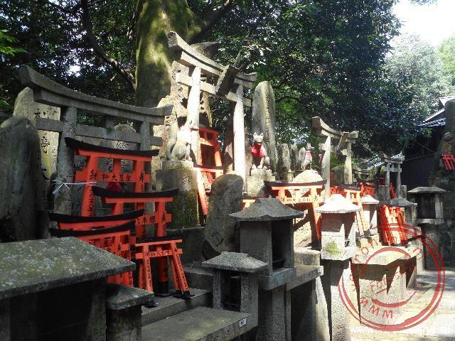 Tempels langs het pad van de duizend Tori s