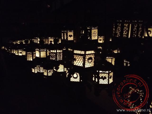 Lampionen in de Kasuga Taisha tempel in Nara