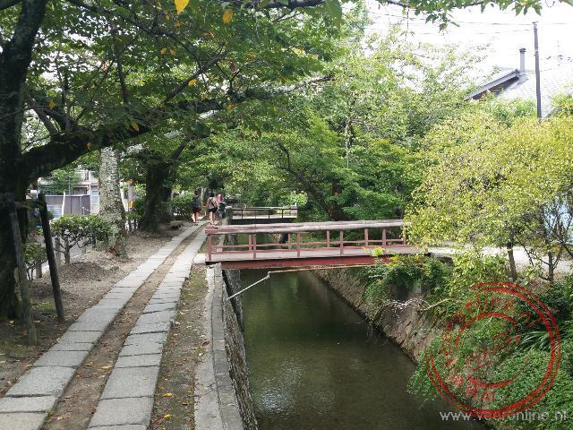 De filosofen route aan de oost kant van Kyoto