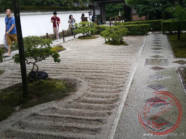 De prachtige aangelegde Japanse tuin