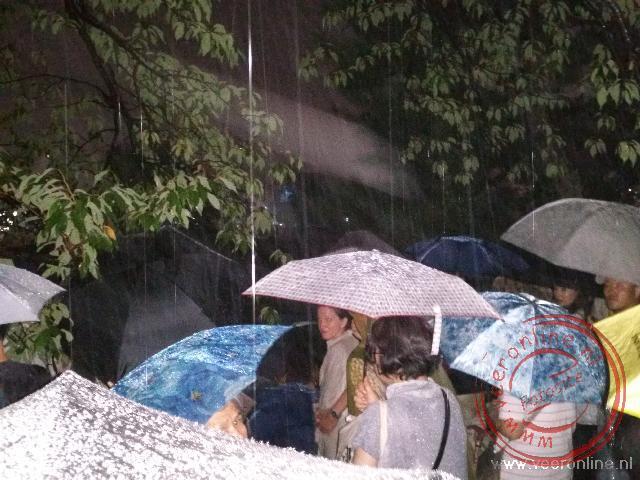 Het Daimonji festival valt compleet in het water
